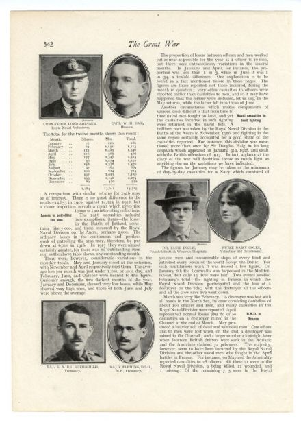 1918 WW1 Officers ELSIE INGLIS Daisie Coles FUNERAL Francis Earl Johnston PLAQUE